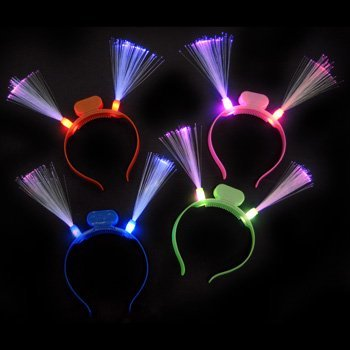 GlowFactory Light up LED Fibre Optic Headband / LED Fiber Optic Headband