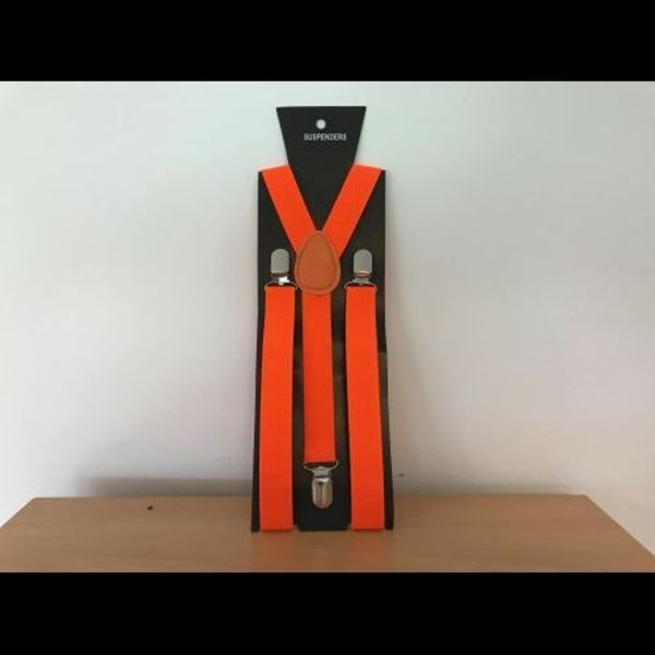 UV Neon Braces Orange (Bulk)