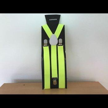 UV-Neon-Hosenträger gelb