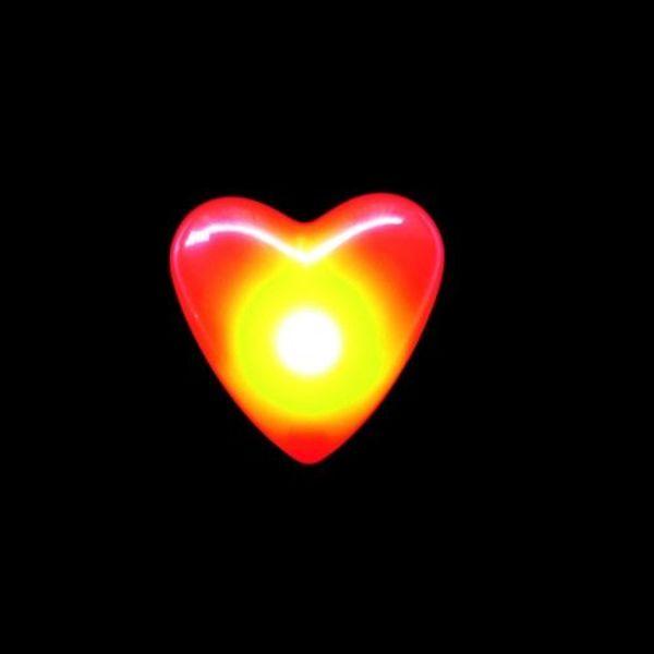 LED Heart Badge / Flashing Heart Badge (Bulk)