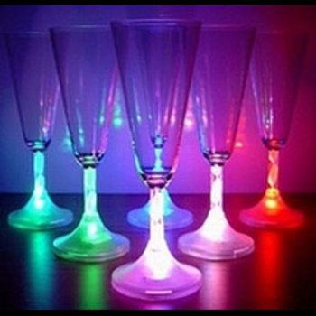 GlowFactory Light Up Champagne Glass