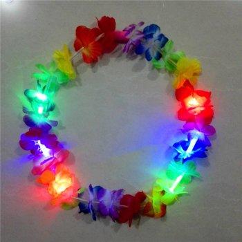 GlowFactory LED Garland / Hawaiian Light up Lei Multi-Coloured