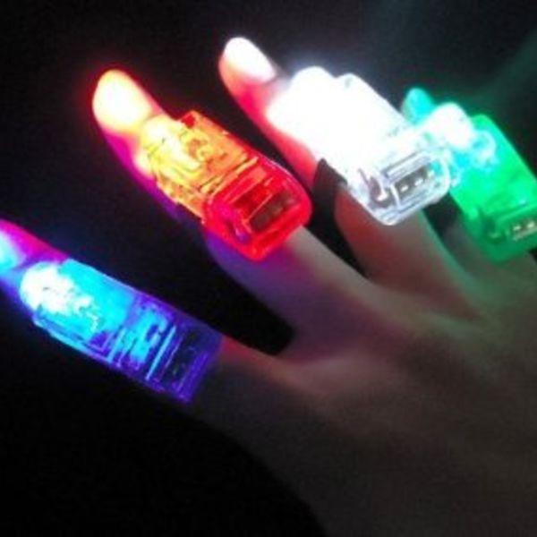 GlowFactory Vingerlichtjes - Gemixte kleuren