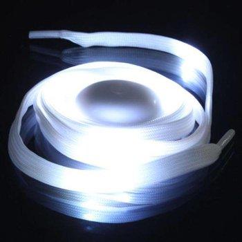 GlowFactory Schnürsenkel mit Licht - Weiß