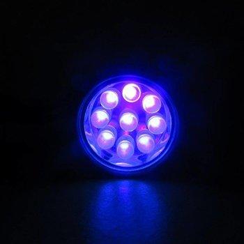 GlowFactory UV Zaklamp 9 LEDS