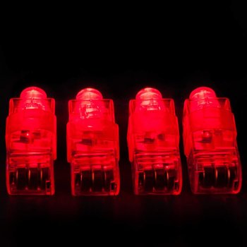 Fingerlicht rot / rotes LED-Fingerlicht