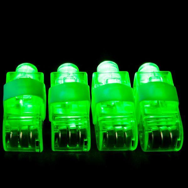 Light Up Fingerlight Green / Green LED Fingerlight (Bulk)