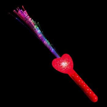 GlowFactory Fibre Optic Torch Heart / Fibre Optic Wand Heart