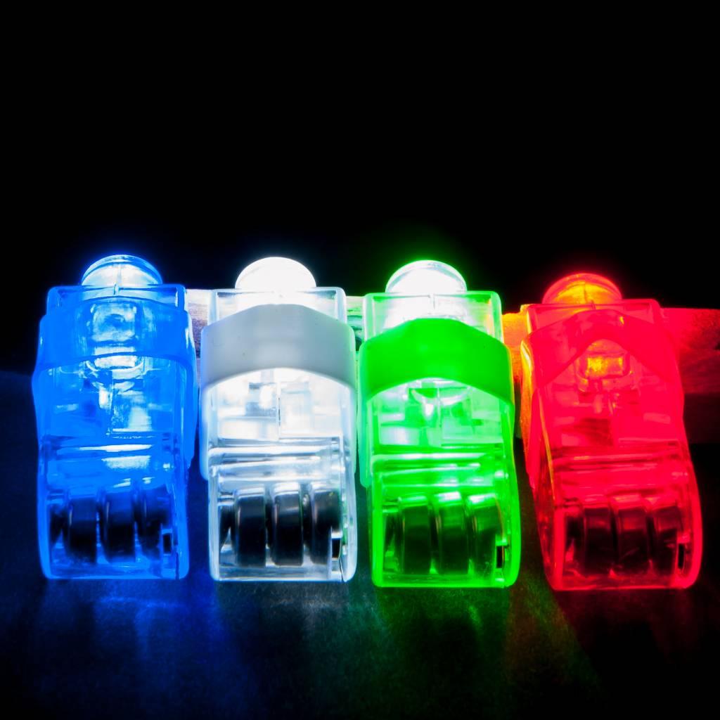 Light Up Finger Lights Bulk 100 Pack Mixed Colours