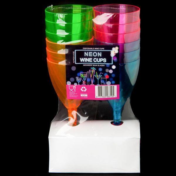 Neon Wine Cups (Bulk)