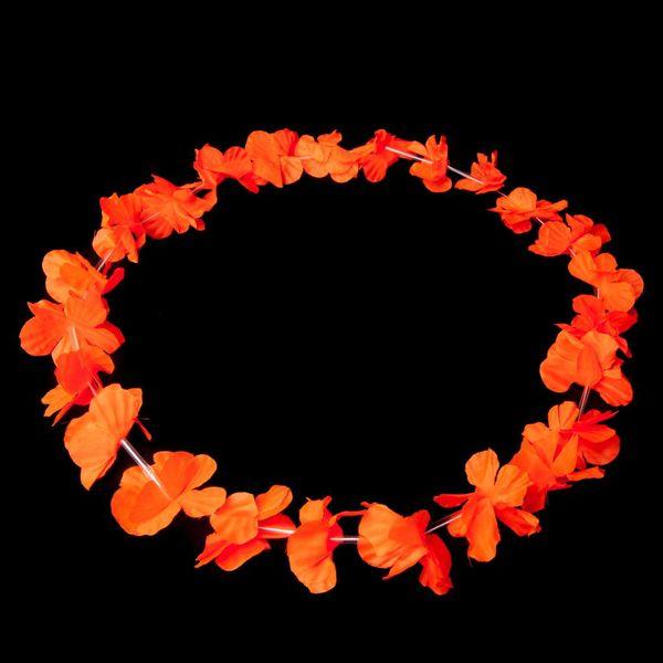 Garland / Hawaiian Lei Orange UV (bulk)