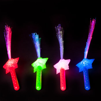 GlowFactory Fibre Optic Torch Star / Fibre Optic Wand Star