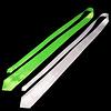 GlowFactory UV Stropdas / Blacklight Stropdas - Wit