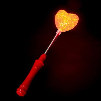 GlowFactory Flashing Wand Heart Shaped