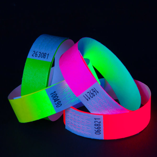 UV Reactive Neon Wristbands Yellow