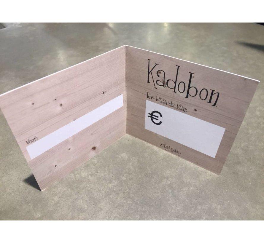 Kadobon €2,50