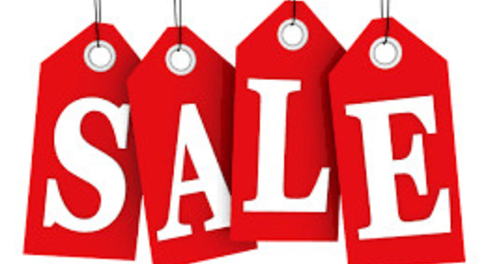 It's time for sale!