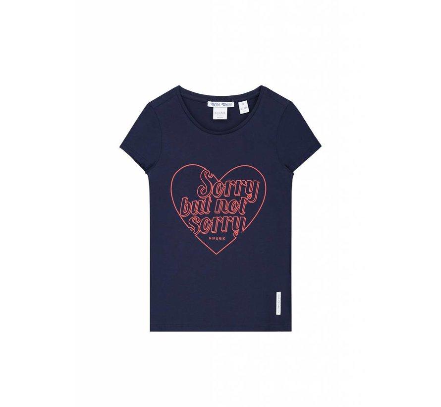 Paula G8-8331804 Nik&Nik T-shirt Dark Blue Girls