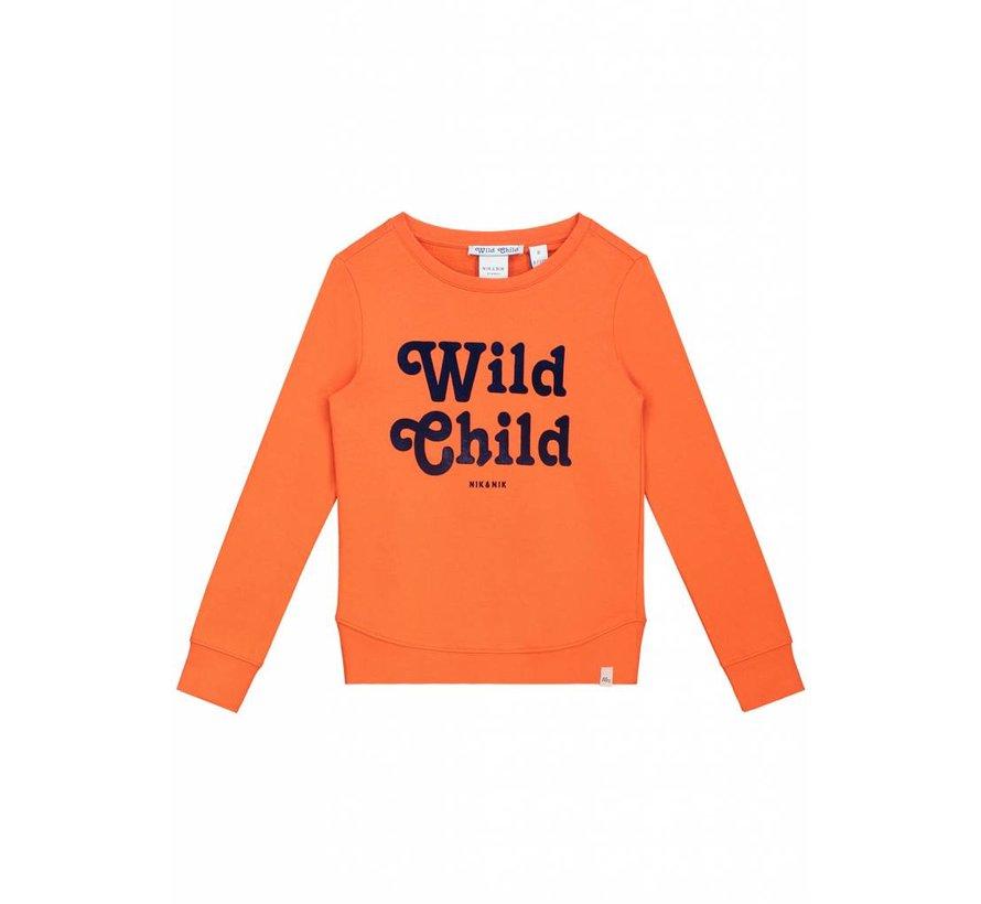Poloma G8-8481804 Nik&Nik Sweater Orange Girls