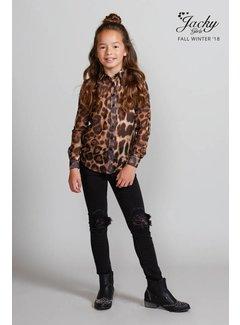 Jacky Luxury JGFW18040 Jacky Luxury Blouse leopard