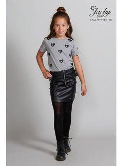 Jacky Luxury JGFW18066 Jacky Luxury Skirt leather look