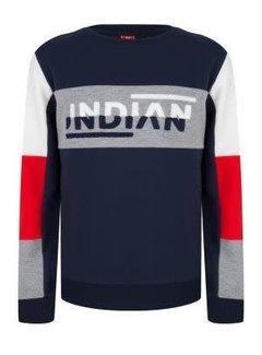 Indian Blue Jeans IBB19-4505 Crewneck colorblock Indian blue jeans