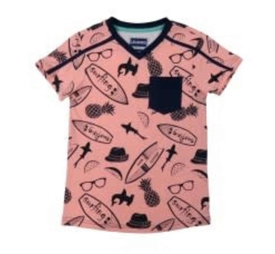 leggend 22 T shirt all over surfprint