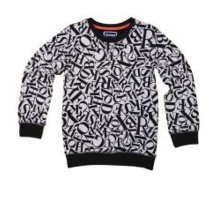 leggend 22 sweater alphabet