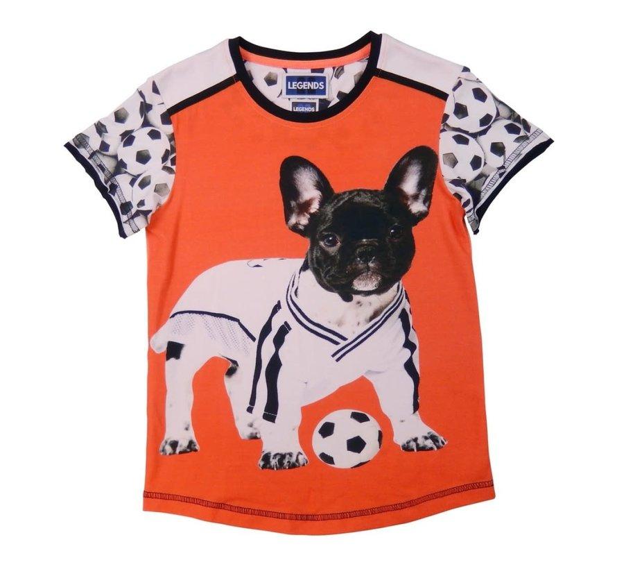leggend 22 T shirt football bull-dog