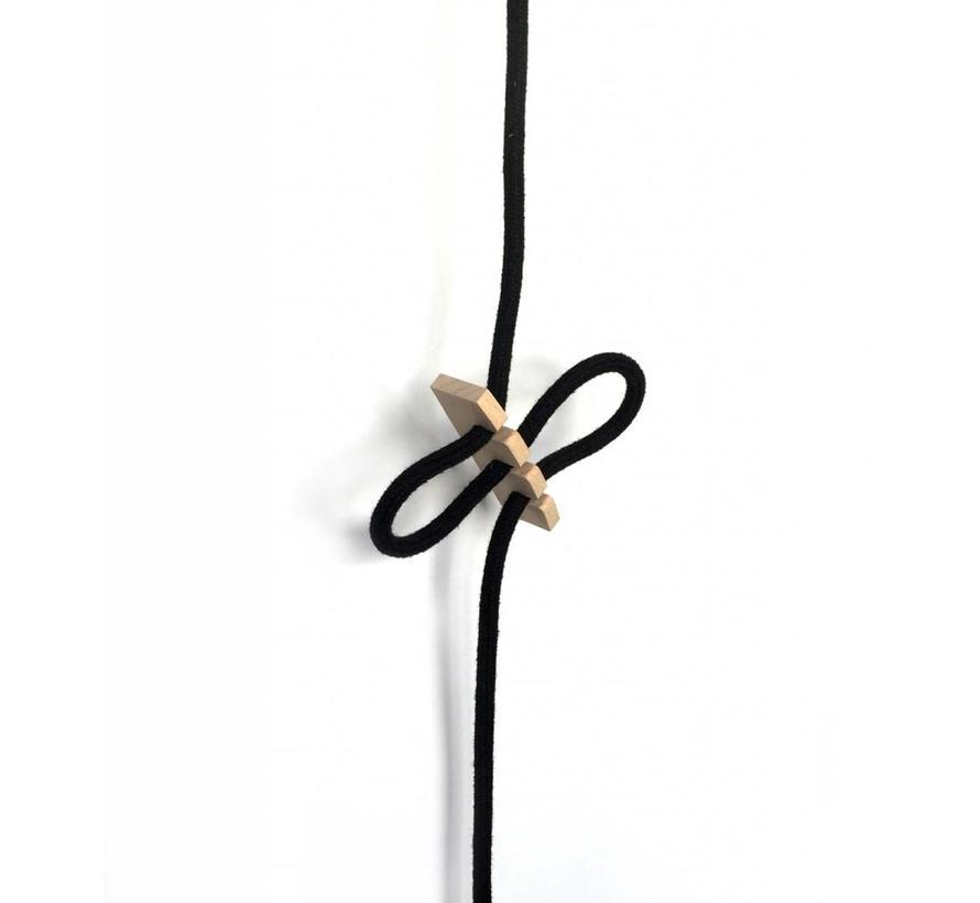 Cord clip 'Knut' wood