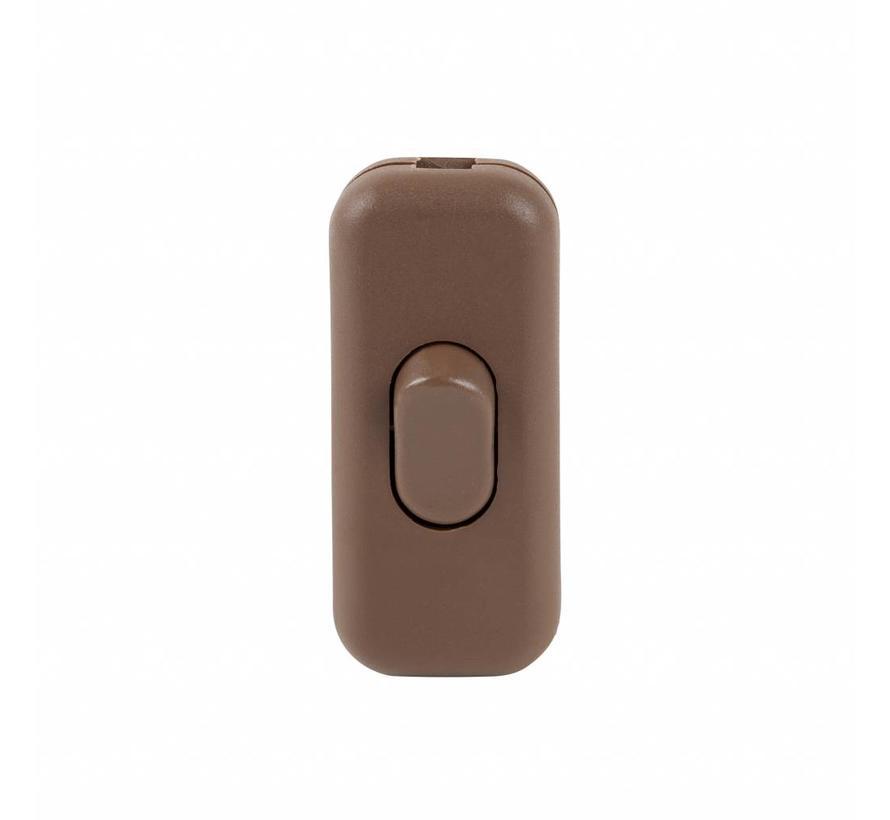 Kabelschalter Braun | 2-polig