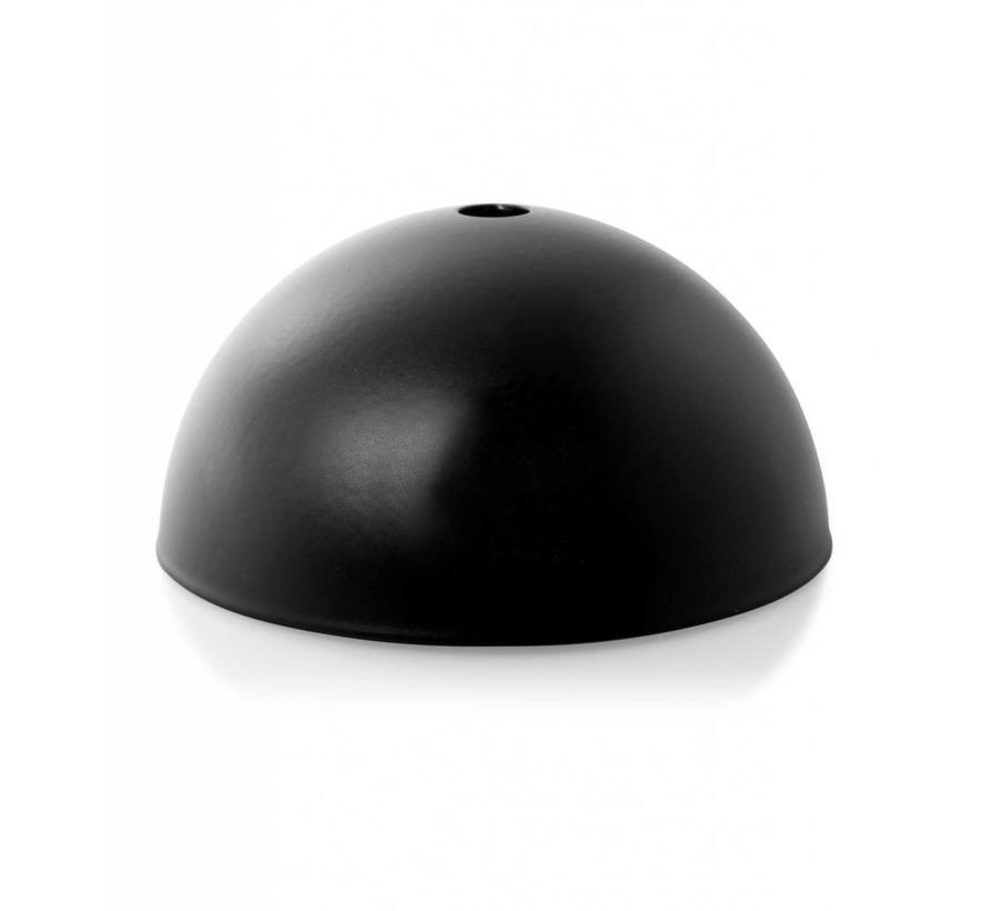 Plafondkap 'Hemming' metaal Zwart - 1 snoer