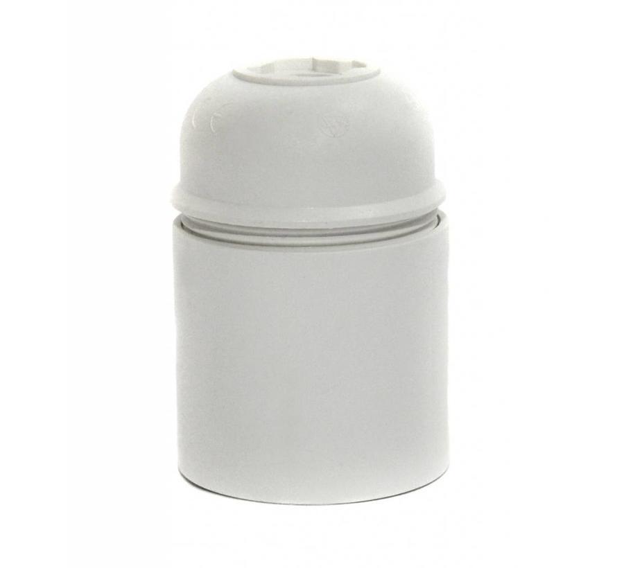Fassung Thermoplastik (Kunststoff) Weiß mit Glattmantel - E27