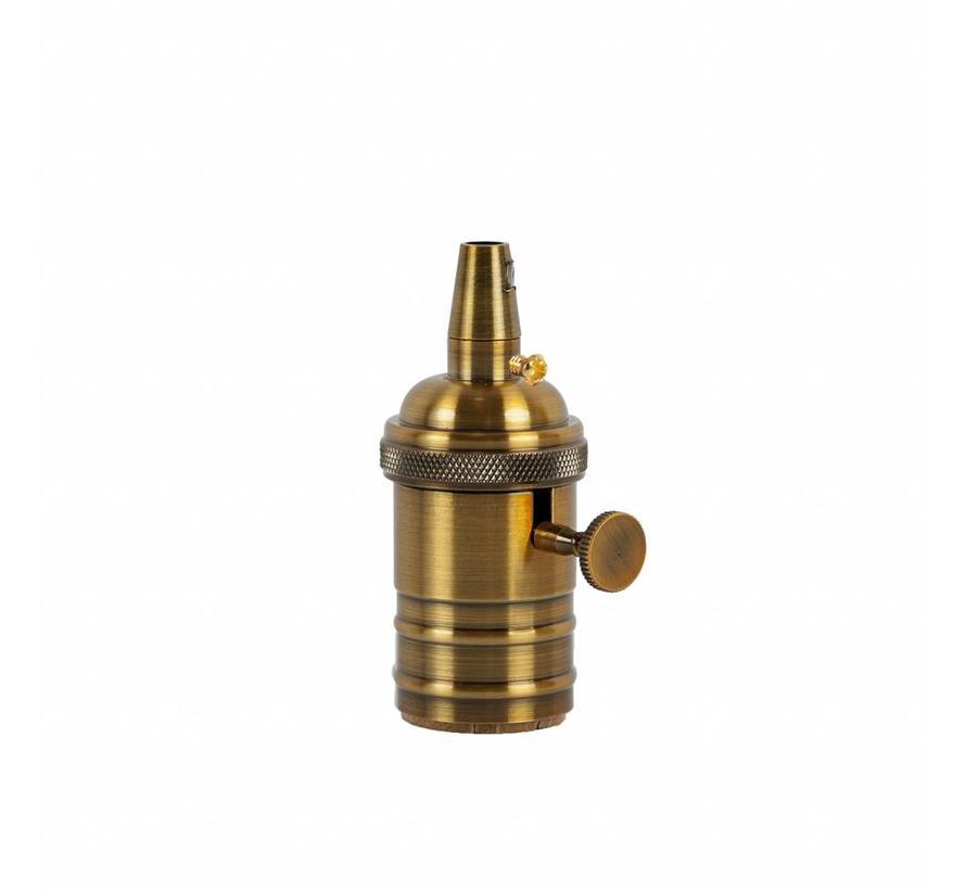 Fassung 'Frey' mit Schalter Metall Gold Bronze - E27