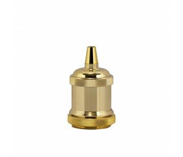 Kynda Light Metal Lamp Holder 'Bernt' gold