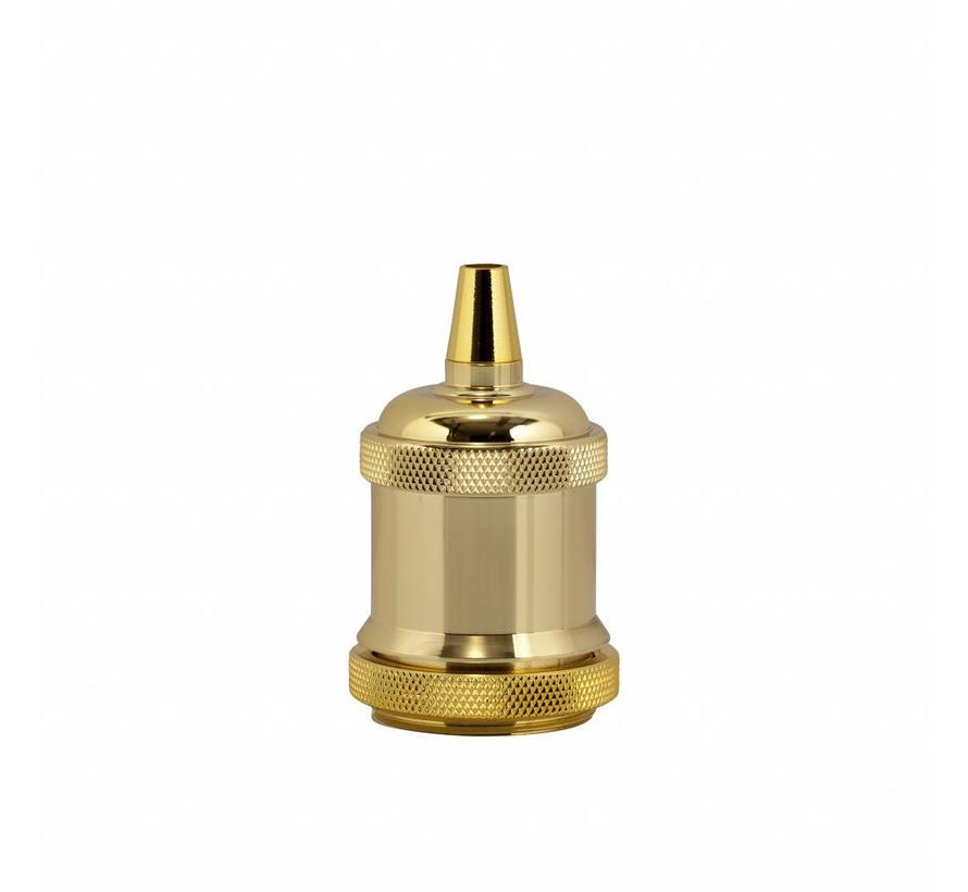 Metal Lamp Holder 'Bernt' gold E27