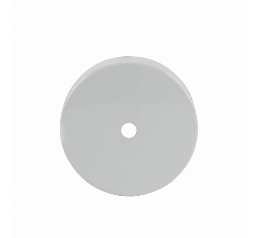 Plafondkap 'Enok' metaal Wit - 1 snoer