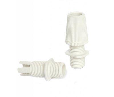 Kynda Light Bakelite Lamp Holder - White (E27)