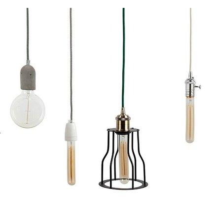Stoere lampen, kant-en-klaar om op te hangen