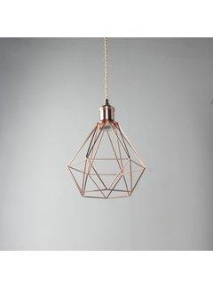 Kynda Light Metal Cage Frame 'Ludvig' copper
