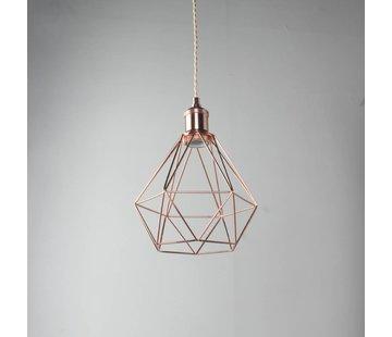 Kynda Light Lampenschirm Käfig/Draht 'Ludvig' Metall Kupfer