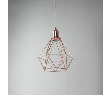 Kynda Light Metal Cage Frame 'Ludvig' copper