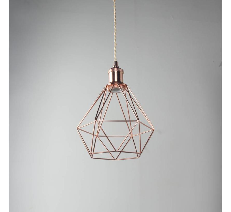 Lampenschirm Käfig/Draht 'Ludvig' Metall Kupfer