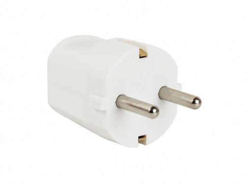 Kaiser Plug round white (grounded)