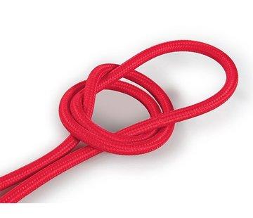 Kynda Light Textilkabel Rot - rund, einfarbiger Stoff