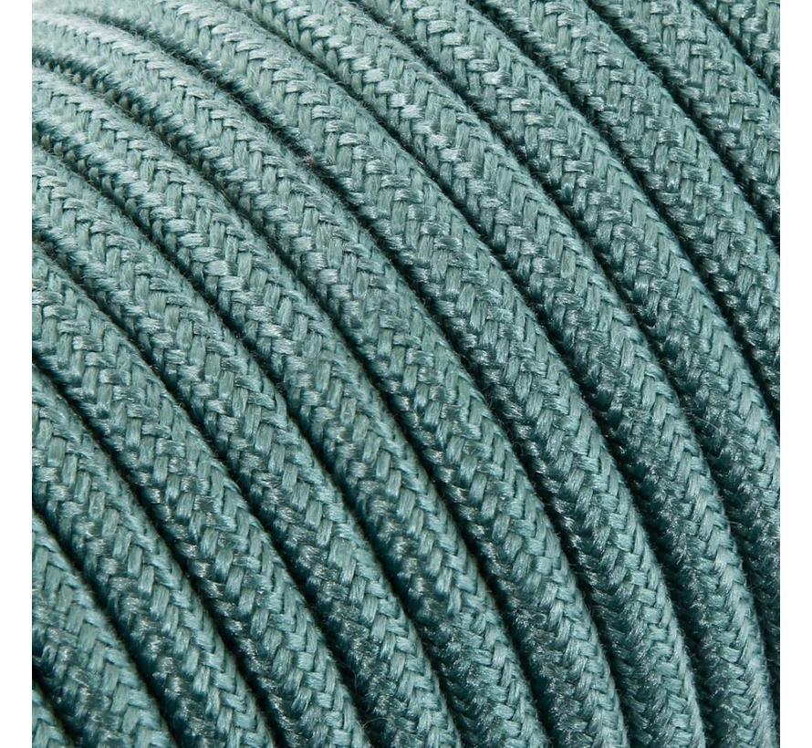 Textilkabel Salbei - rund, leinen
