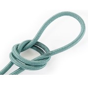 Kynda Light Fabric Cord Sage - round, linen