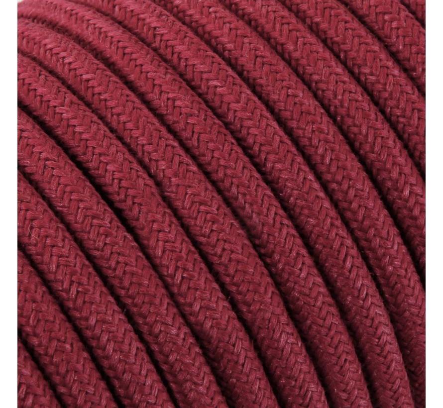 Textilkabel Burgund - rund, leinen