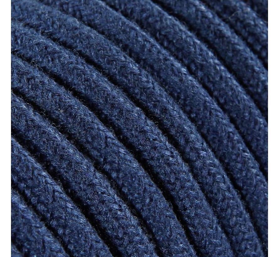 Textilkabel Dunkelblau - rund, leinen
