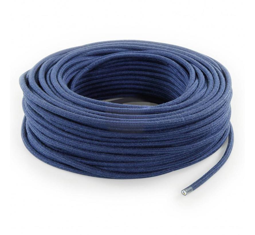 Strijkijzersnoer Donkerblauw - rond, linnen